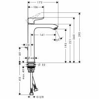 Hansgrohe Metris Basin Mixer 200