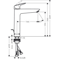 Hansgrohe Logis 190 Tall Basin Mixer