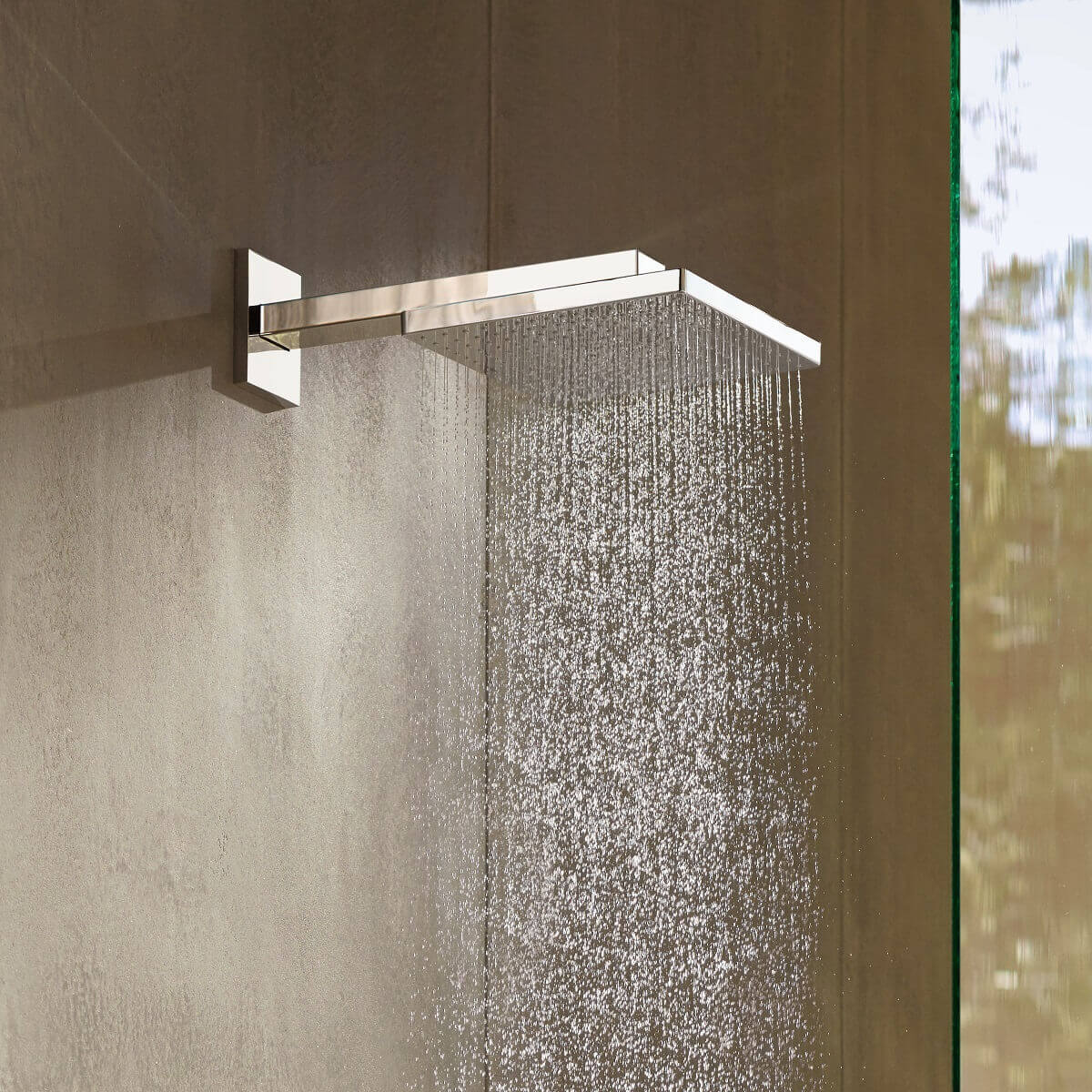 Hansgrohe Raindance E 300 Air 1 Jet Overhead Shower | Bathrooms ...