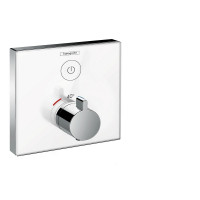 Hansgrohe ShowerSelect Glass Thermostatic Mixer 1 Outlet