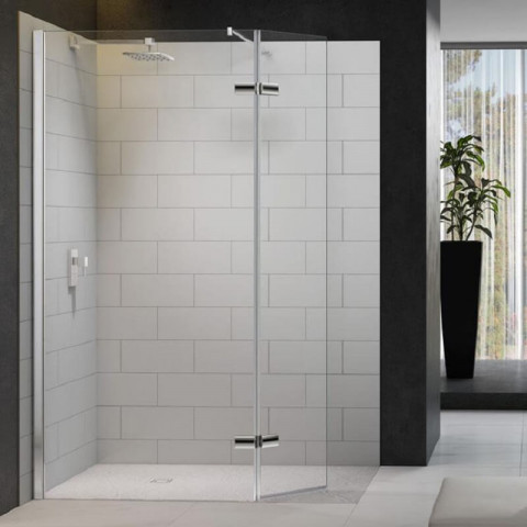 Merlyn Series 8 Shower Wall With Hinged Swivel Panel