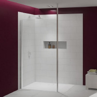 Merlyn Series 8 Shower Wall With Vertical Post