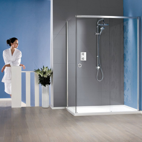 Matki New Radiance Sliding Shower Enclosure & Slimline Tray