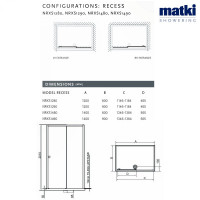 Matki New Radiance Sliding Door For Recess Amp Slimline Tray