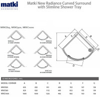 Matki New Radiance Curved Surround & Slimline Tray
