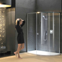 Matki New Radiance Curved Offset Shower Enclosure & Slimline Tray