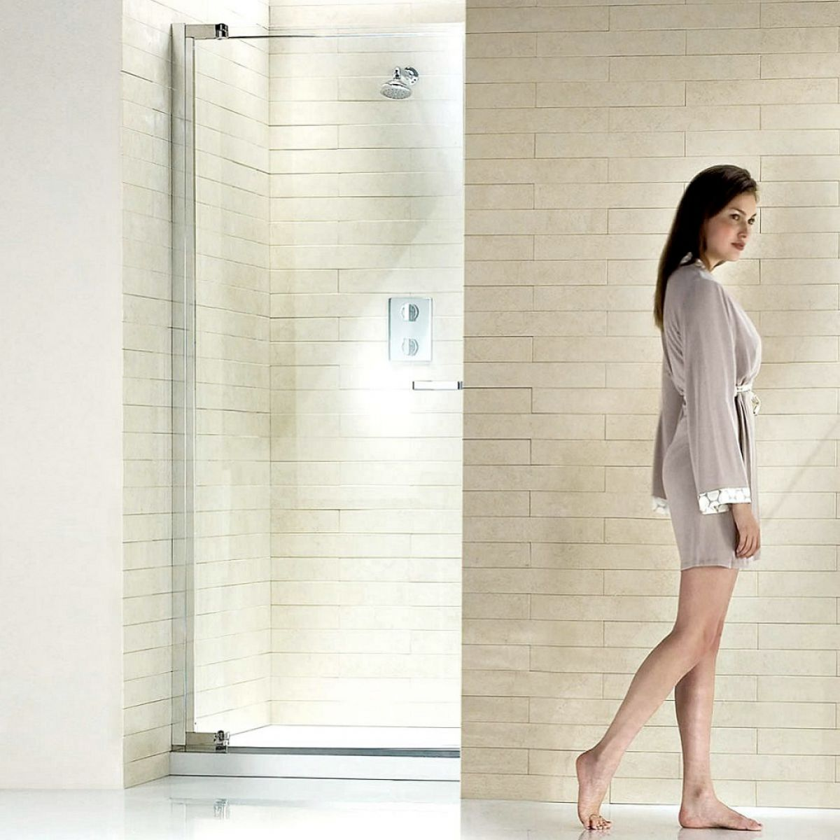 Matki New Radiance Pivot Shower Door For Recess