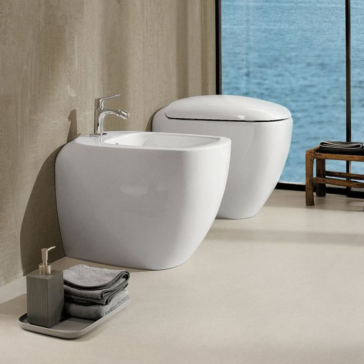 Geberit Citterio Floor Standing Back To Wall Bidet