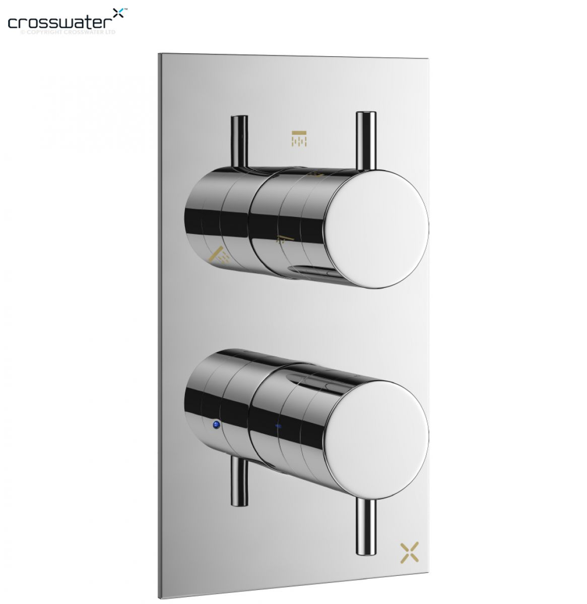 Crosswater MPRO Thermostatic Shower Valve 2 Controls