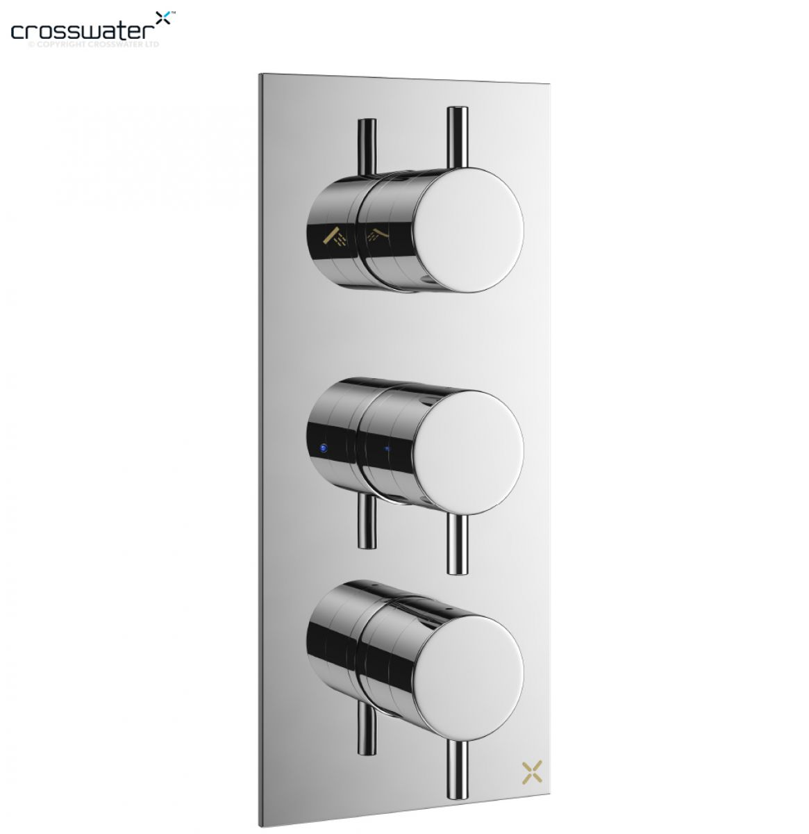 Crosswater MPRO Thermostatic Shower Valve 3 Controls