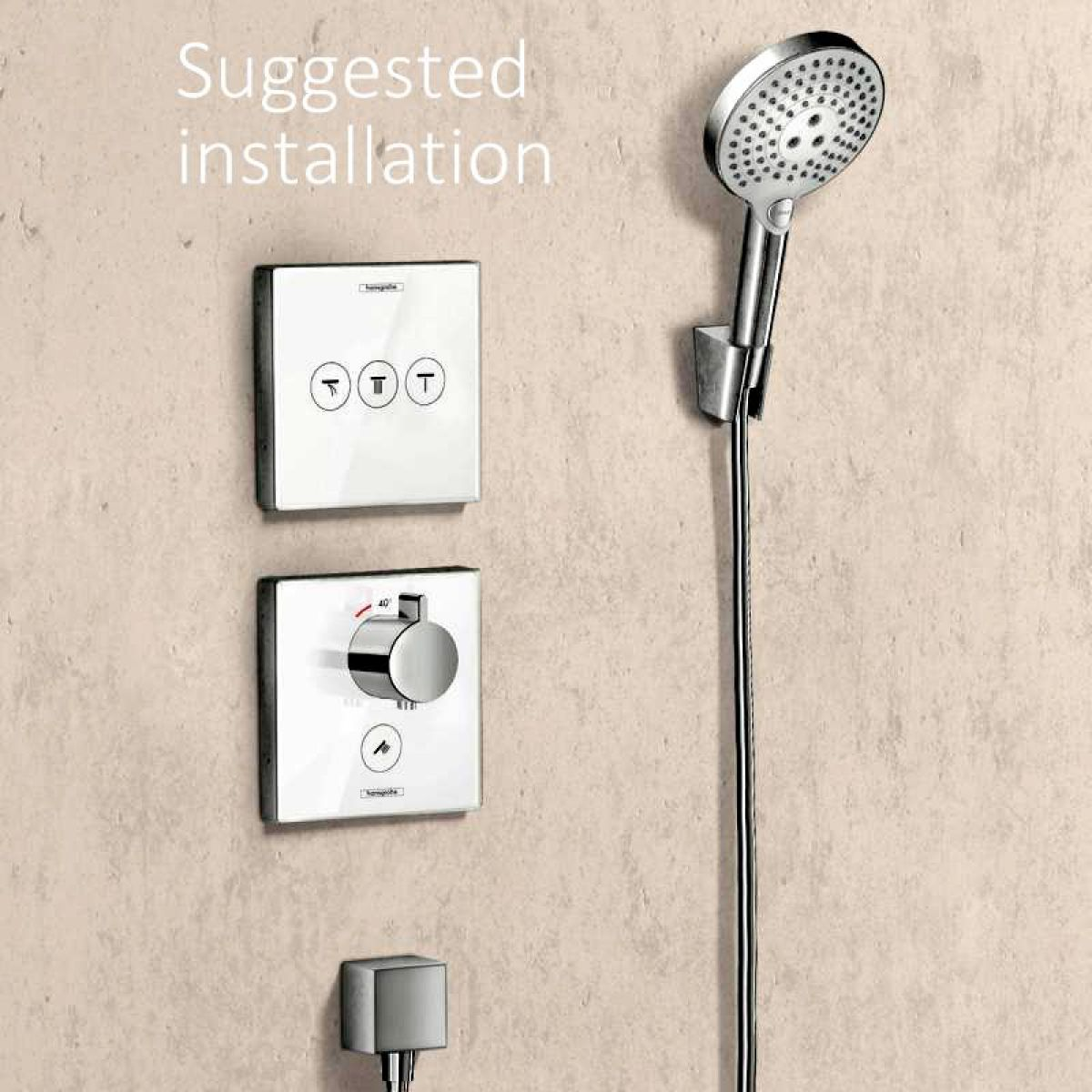 Hansgrohe ShowerSelect Highflow Shower Mixer For Multiple Outlets ...