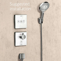 Hansgrohe ShowerSelect Highflow Shower Mixer For Multiple Outlets