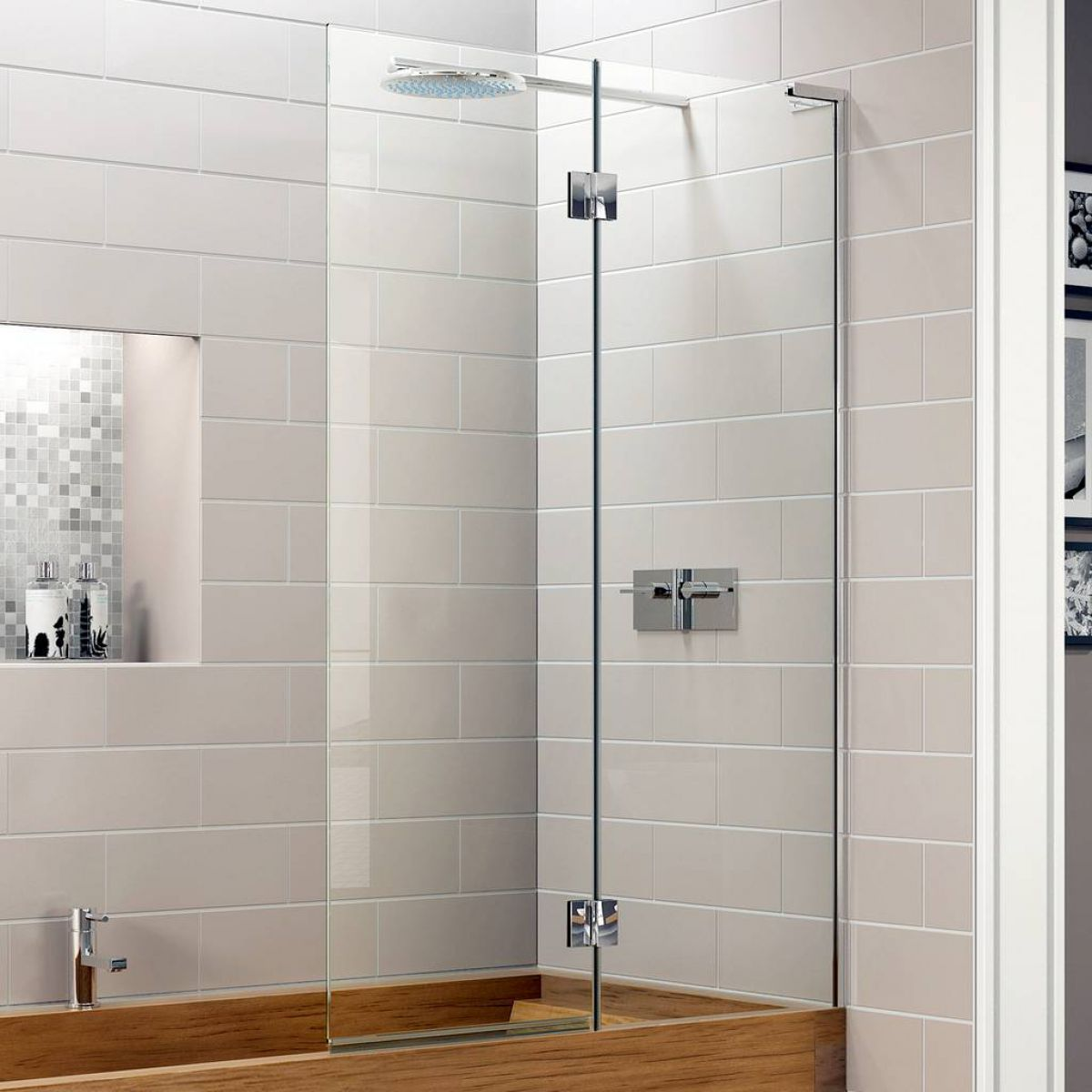 Matki Eauzone Plus Inward Opening Two Panel Bath Screen