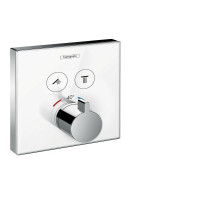 Hansgrohe ShowerSelect Glass Thermostatic Mixer 2 Outlets