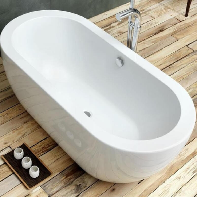 Waters Linear Willow 1690mm Freestanding Bath