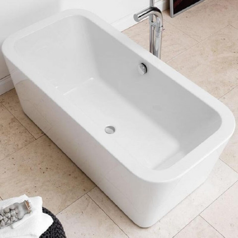 Waters Linear Bracken Freestanding Bath