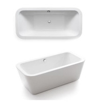 Waters Linear Bracken 1670mm Freestanding Bath