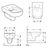 Geberit Smyle Wall Hung Toilet Rimfree