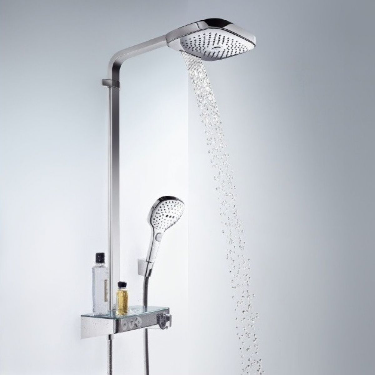 hansgrohe raindance select e 300 3 jet st showerpipe. Black Bedroom Furniture Sets. Home Design Ideas