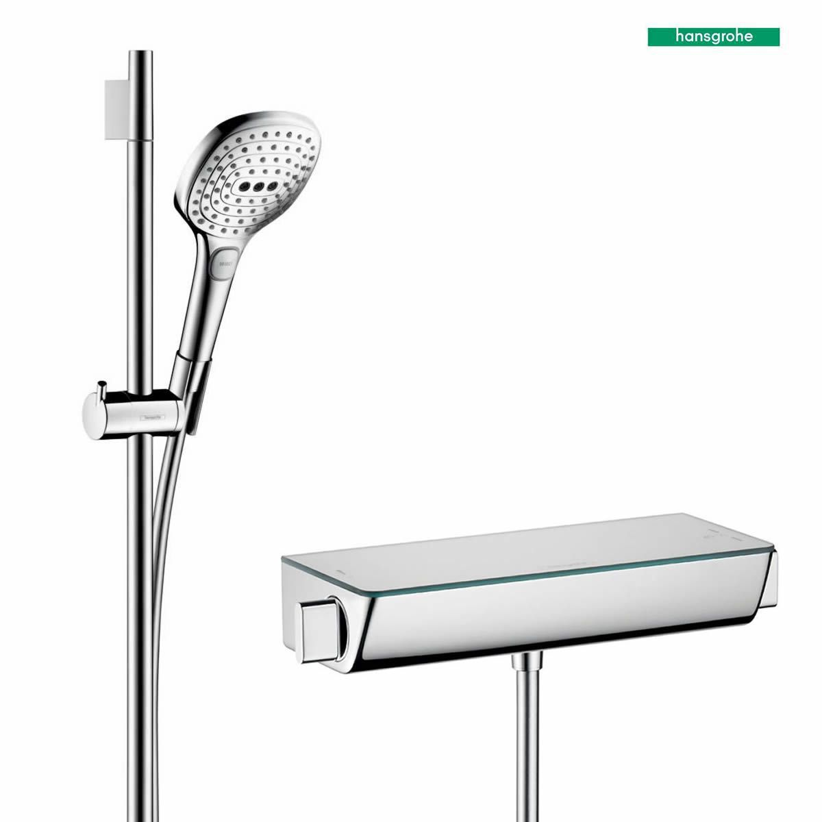 hansgrohe ecostat select with raindance select e 120 3 jet hand shower bathrooms direct yorkshire. Black Bedroom Furniture Sets. Home Design Ideas
