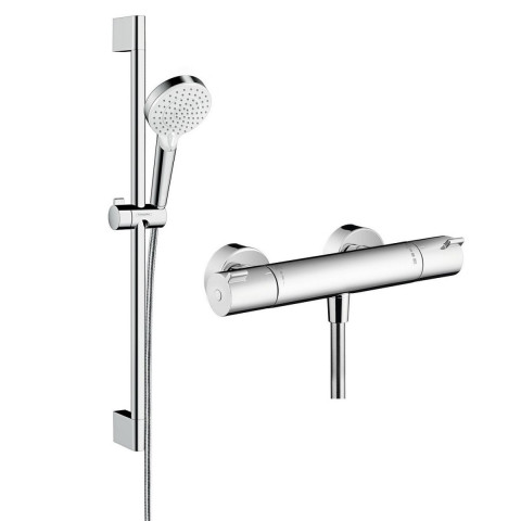 Hansgrohe Ecostat 1001 CL Combi Set 0.65m With Crometta Vario 100 Hand Shower