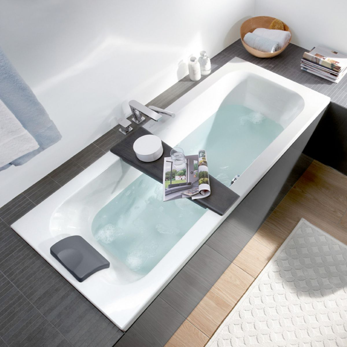 Villeroy & Boch Loop & Friends Square Duo Single Ended Bath