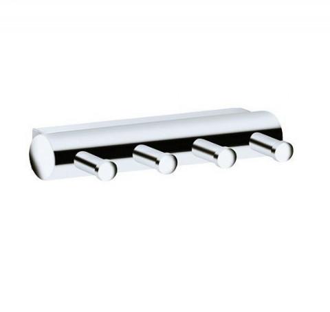 Keuco Plan Towel Hook Panel - With 4 Hooks