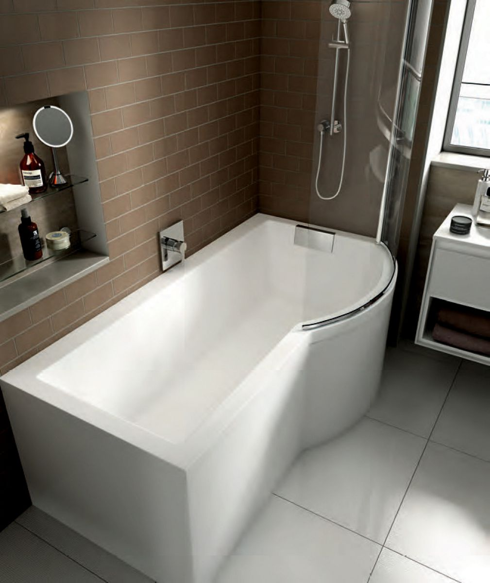 Bathroom And Showers Direct: Carron Celsius Shower Bath With Screen & Bath Panel