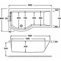 Carron Celsius Shower Bath With Screen & Bath Panel