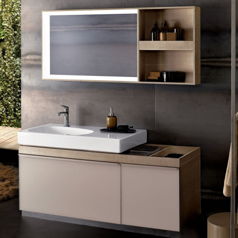 Geberit Citterio Vanity Unit With Two Drawers & Shelf Surface