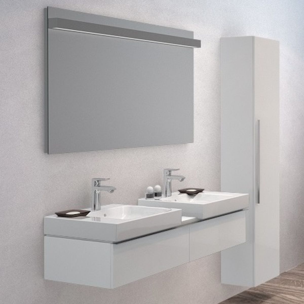 Geberit Icon Double Vanity Unit For Two 500mm Washbasins