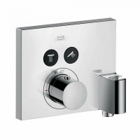 AXOR ShowerSelect Square Thermostatic Mixer For 2 Outlets With FixFit & Porter Unit