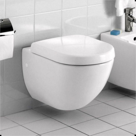 Abacus Bathrooms Simple Compact Wall Hung Toilet