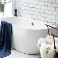 Waters Natura Loche 1660mm Back To Wall Bath