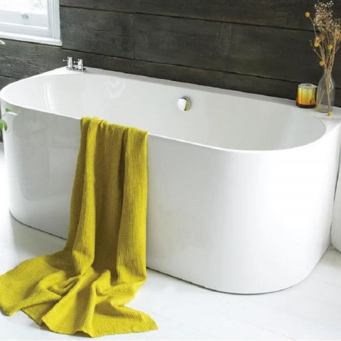 Waters Natura Strait 1660mm Back To Wall Bath