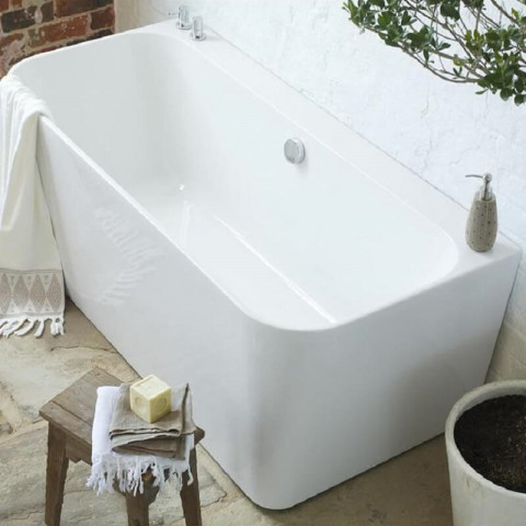 Waters Natura River 1600mm Back To Wall Bath