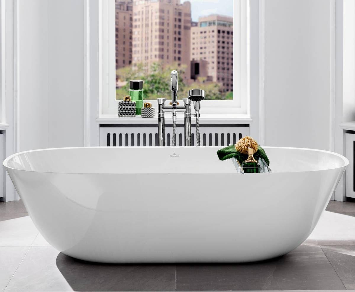 Villeroy boch theano solo freestanding bath bathrooms direct yorkshire for Villeroy and boch bathroom accessories