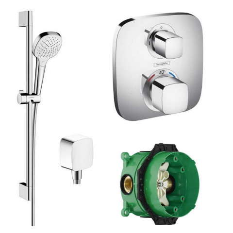 Hansgrohe Soft Cube Valve With Croma Select Rail Kit Shower Pack