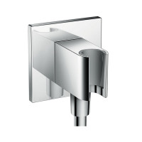 Hansgrohe Square Select Valve With Raindance 300 Overhead & Baton Hand Shower