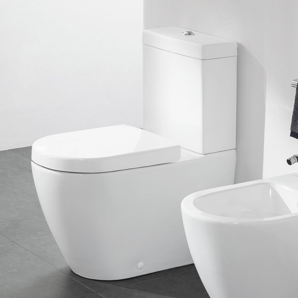 villeroy boch subway 2 0 rimless close coupled toilet bathrooms direct yorkshire. Black Bedroom Furniture Sets. Home Design Ideas