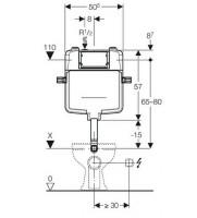 Geberit Sigma 8cm Reduced Depth Dual Flush Concealed Cistern