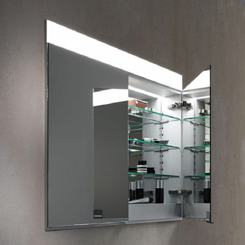 Keuco Edition 400 Cabinet Recessed With Heated Mirrors