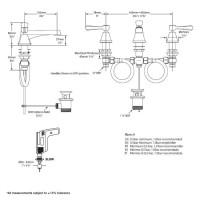 Victoria + Albert Florin 9 Deck Mounted Basin Mixer Tap