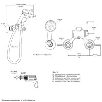 Victoria + Albert Florin 15 Wall Mounted Bath Shower Mixer with Kit