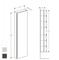 Geberit Acanto Tall Cabinet With One Door