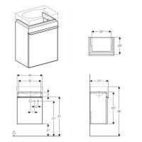 Geberit Citterio 450mm Cloakroom Unit With One Door