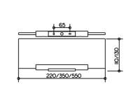 Keuco Plan Crystalline Glass Shelf & Chrome Bracket