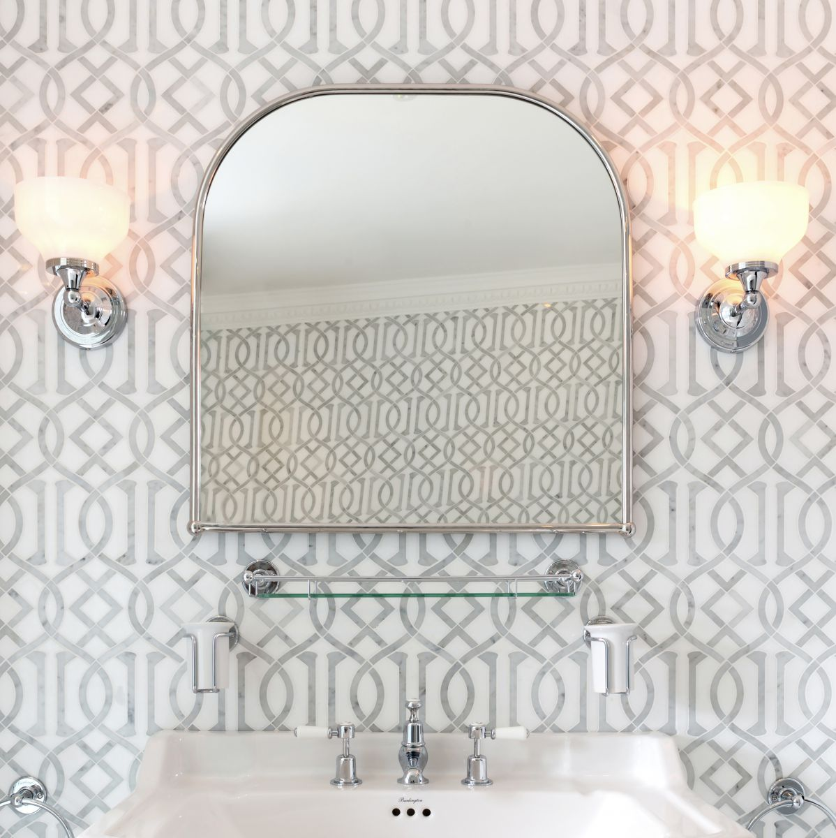 Burlington Curved Framed Mirror