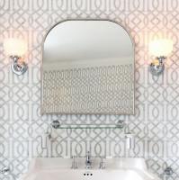 Burlington Curved Framed Mirror