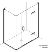 Matki Eauzone Plus Hinged Door With Hinge Panel & Inline Panel For Corner (EPIC)